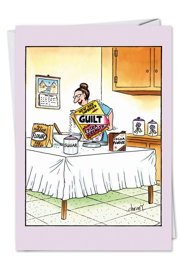 Jewish Moms Cereal Cartoons Birthday Mother Paper Card Tom Cheney