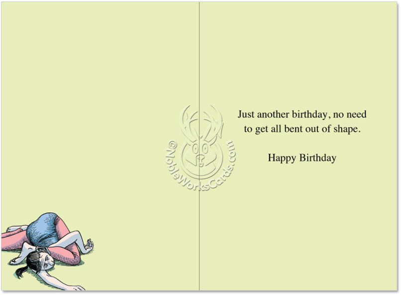 Yoga Emergency Hotline Cartoon Birthday Card Dan Piraro