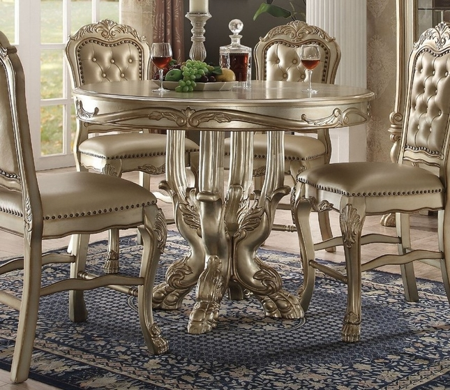 Dresden Formal Carved Wood 48 Quot Counter Height Dining Table