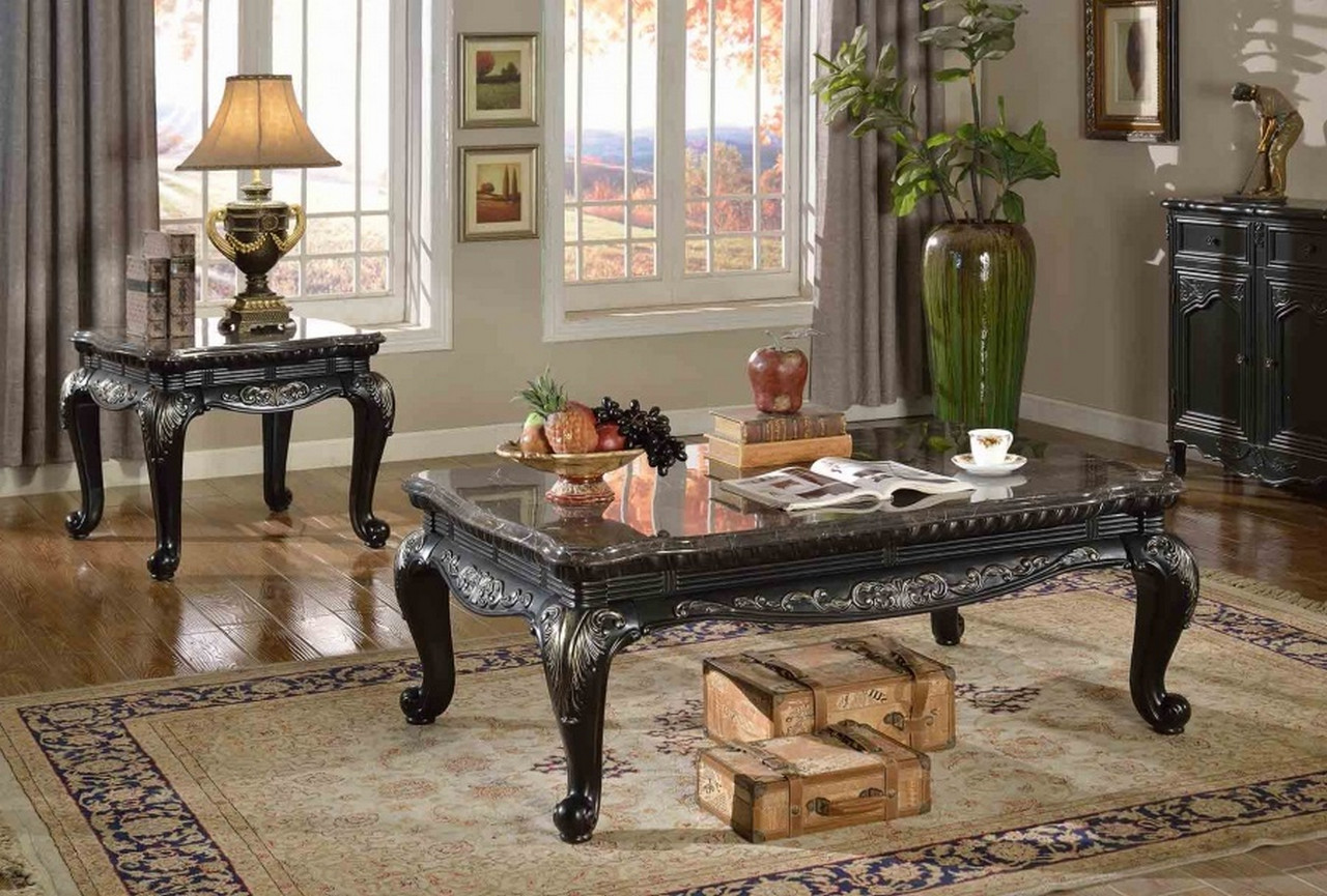 Emerson Traditional Wood Top End Table With Cabriole Legs