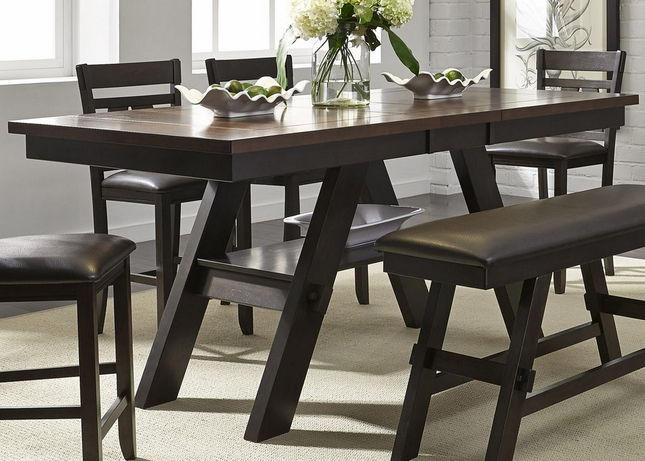 """Lawson 66""""-78"""" Counter Height Pedestal Dining Table In"""