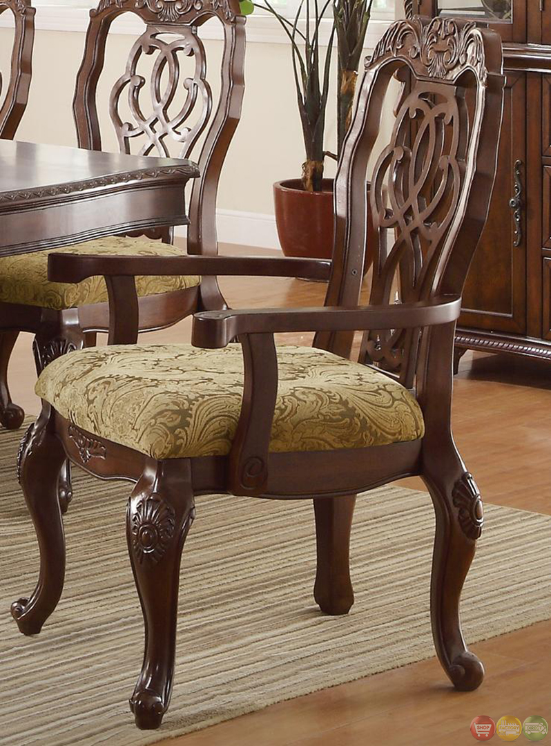 Marisol Cherry Finish Formal Dining Room Table Set