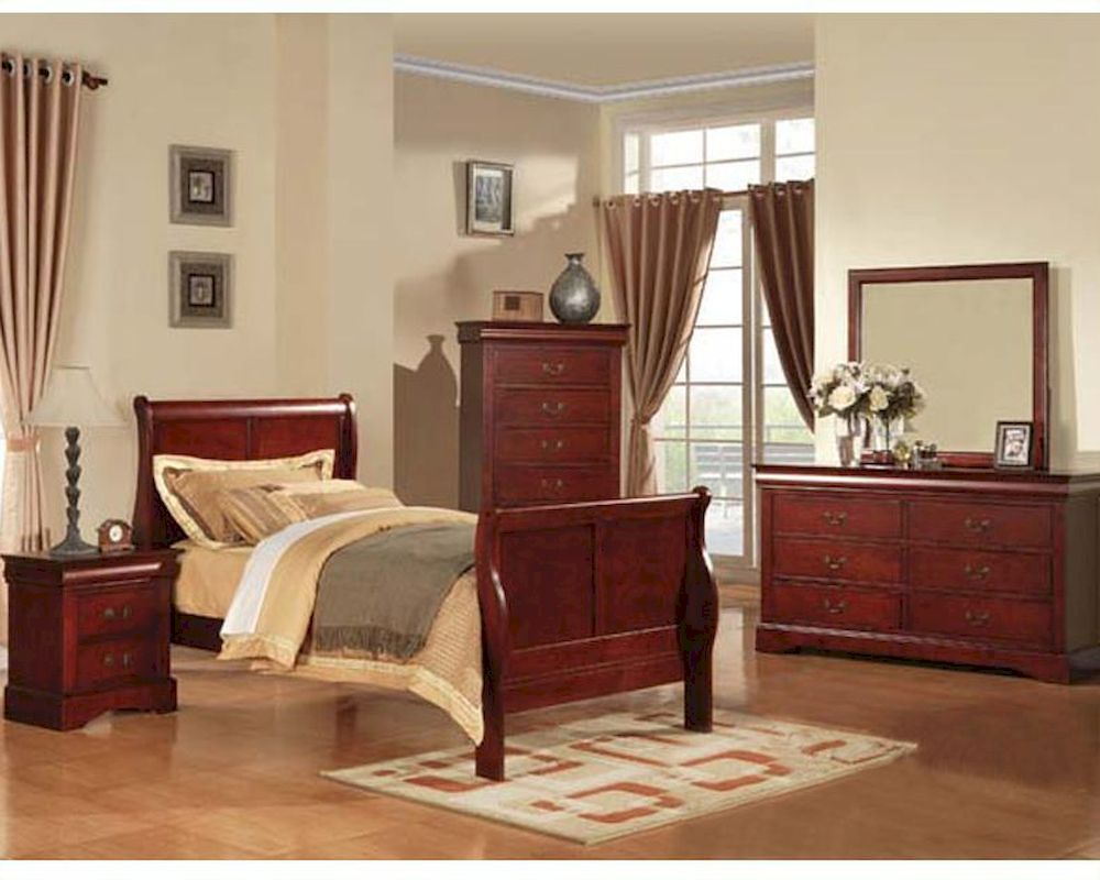 Acme Furniture Bedroom Set Louis Philippe In Cherry