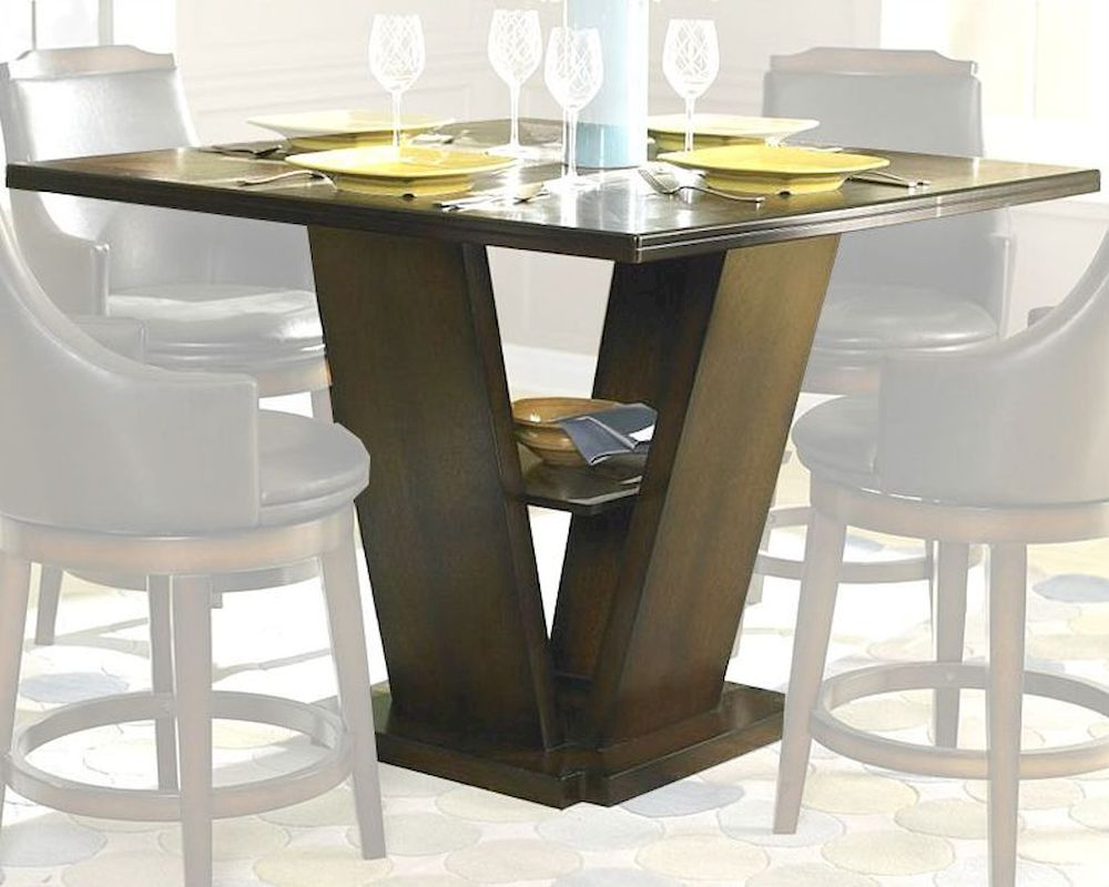 Homelegance Counter Height Pedestal Dining Table Bayshore