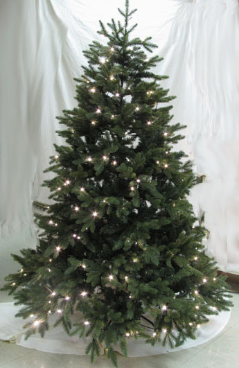 Artificial Christmas Tree Pre Lit LED Woodland Spruce