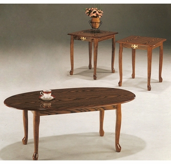 mary 3 pc oak wood table set by asia direct