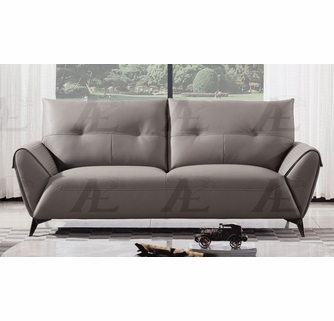 karlee warm gray microfiber leather sofa by american eagle furniture