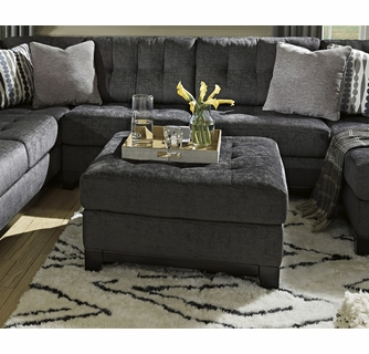 reidshire steel fabric oversized accent ottoman by ashley