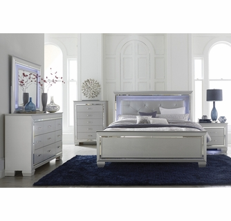 allura silver pu leather wood tufted bed bench by homelegance