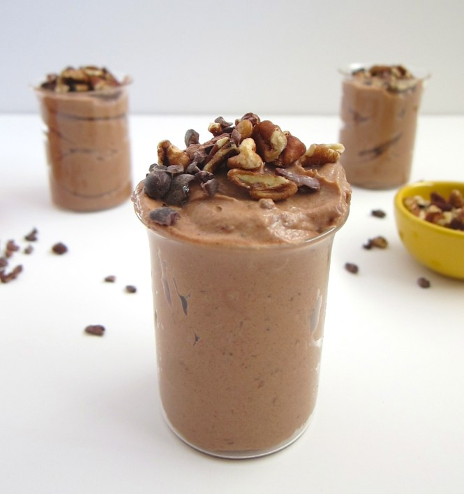 vegan dark chocolate mousse
