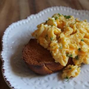 cheddar scrambled eggs