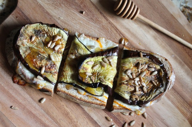 roasted eggplant tartine
