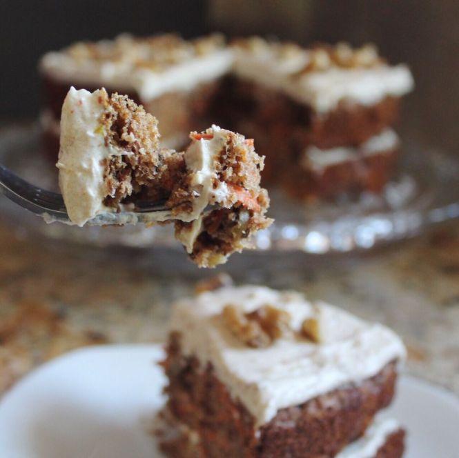 Date Sweetened Carrot Cake