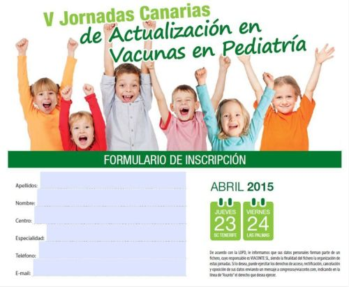 Formulario_inscripción V Jornadas Canarias de Actualización en Vacunas en Pediatría