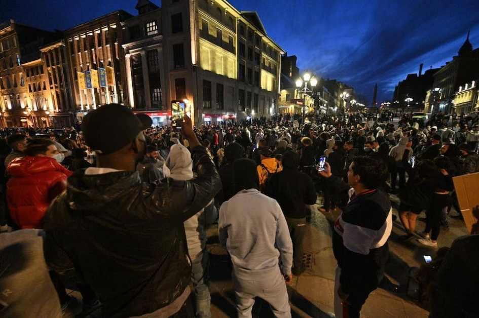 EN IMAGES | Vieux-Montréal: couvre-feu à 20h sous haute tension | TVA Nouvelles