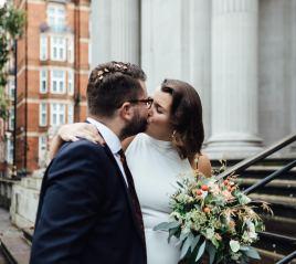 Autumn wedding in London | Marylebone Town Hall elopement photos