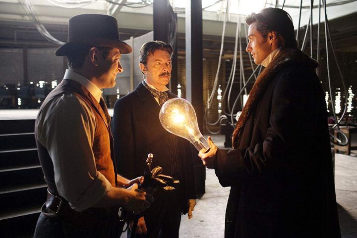 David Bowie, Hugh Jackman et Andy Serkis dans Le Prestige