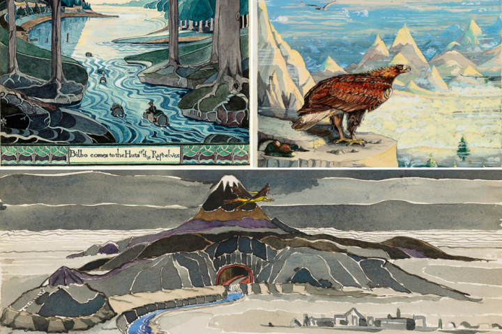 Illustrations de J. R. R. Tolkien pour Le Hobbit