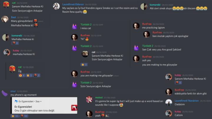 Exemple de folklore d'un serveur Discord