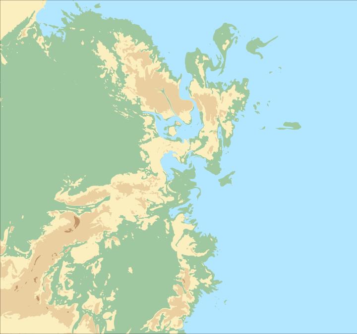 Première version de la carte d'Ourrhaia.