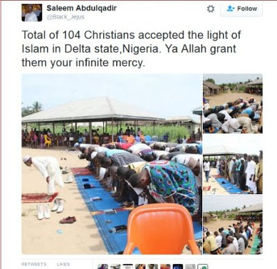 104 Christians Convert To Islam In Delta