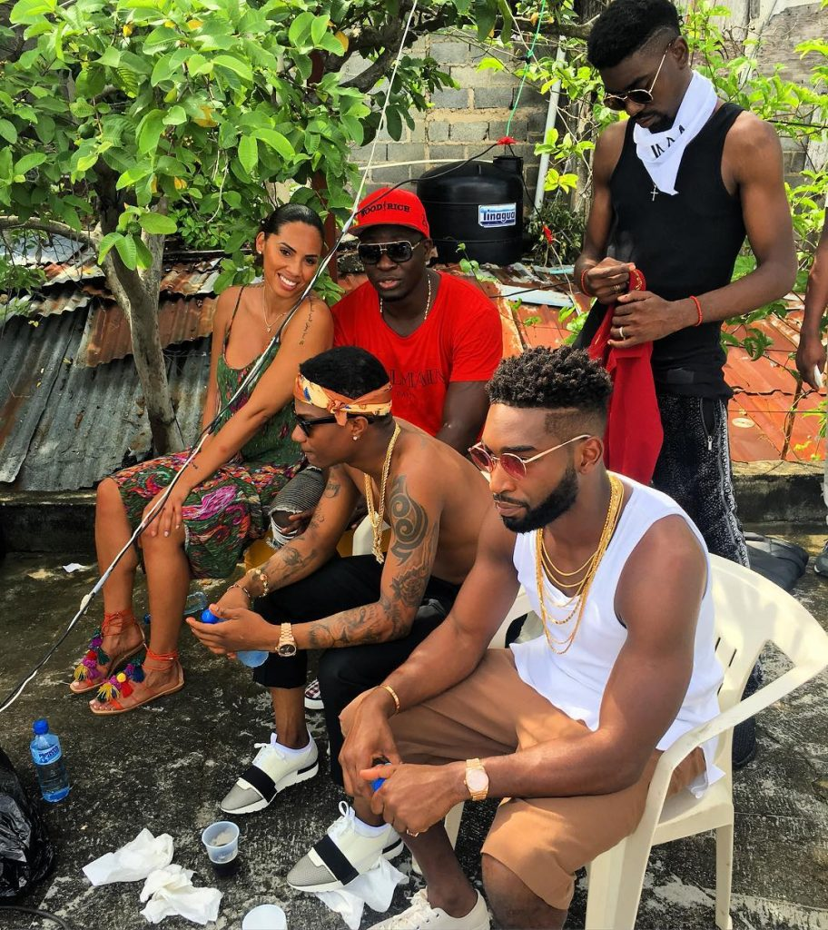 Photos Of Wizkid and Tinie Tempah On Set Of New Music Video