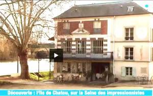 Météo à la carte L'île de Chatou, sur la Seine des impressionnistes,Renoir, Auberge du père Fournaise, Sequana