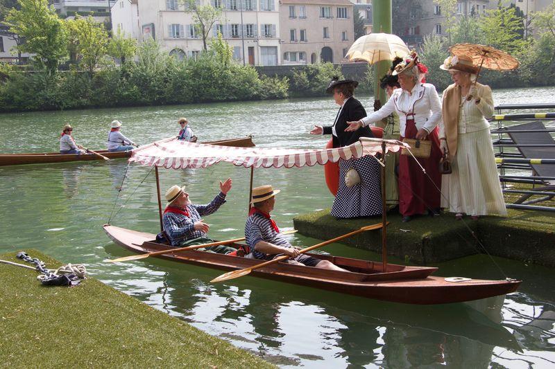 4 Dames accueillent les bateaux de Sequana à Bougival