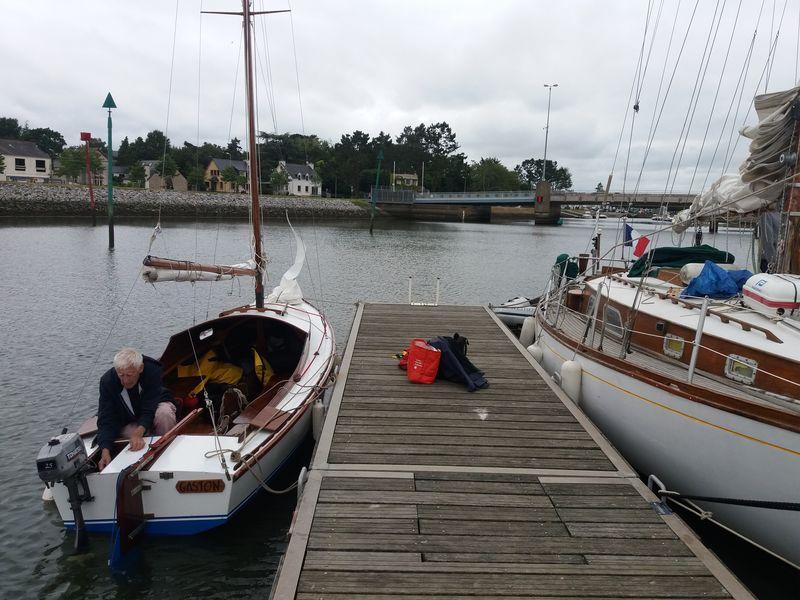 Gaston à la semaine du Golfe du Morbihan