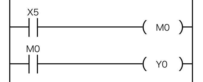 スイッチと内部リレーの回路