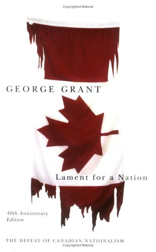covder of lament for a nation by george grant
