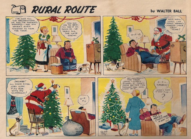 Walter Ball Rural Route comic strip 1960 Christmas Star Weekly