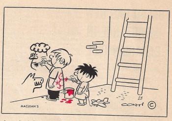 Conti cartoon, Maclean's 1953