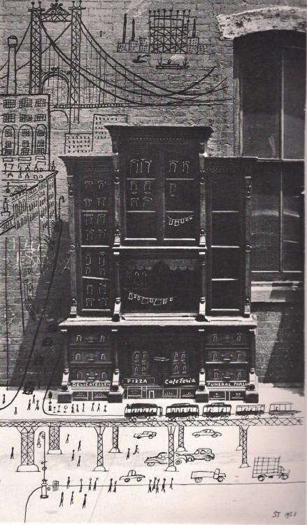 """""""TwoDowntown Buildings"""" (1951)"""