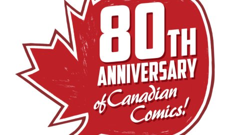 80tth anniversary of Canadian Comic logo