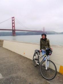 View of Golden Gate Bridge from the promenade