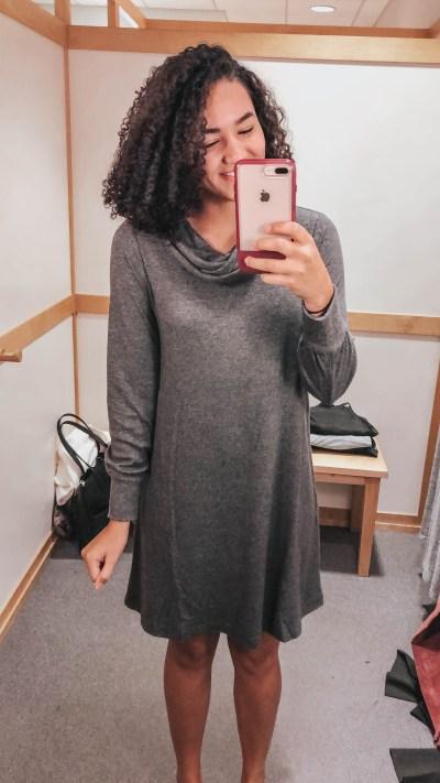 gray-cowl-neck-dress-loft