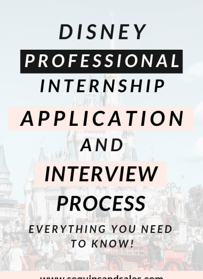 Disney Professional Internship Application & Interview Process