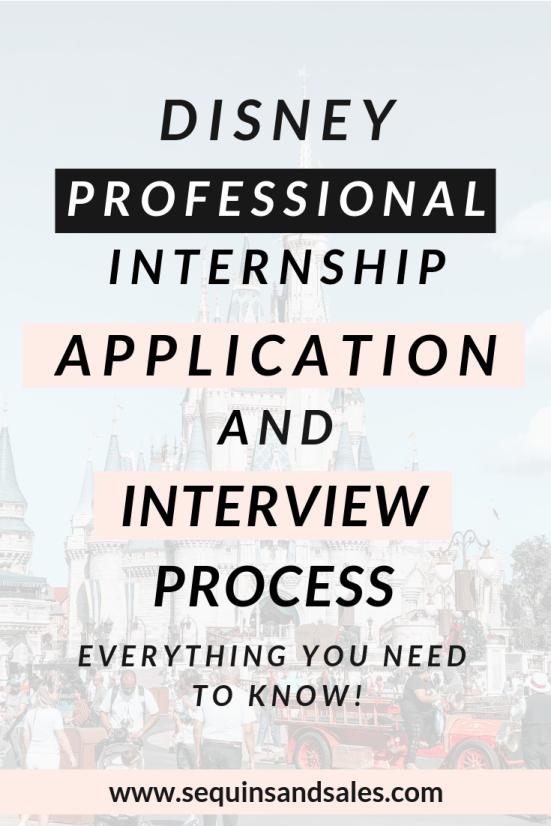 Disney Professional Internship Application and Interview Process