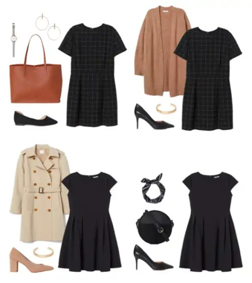 Dress Outfit Options for Business Casual Capsule Wardrobe