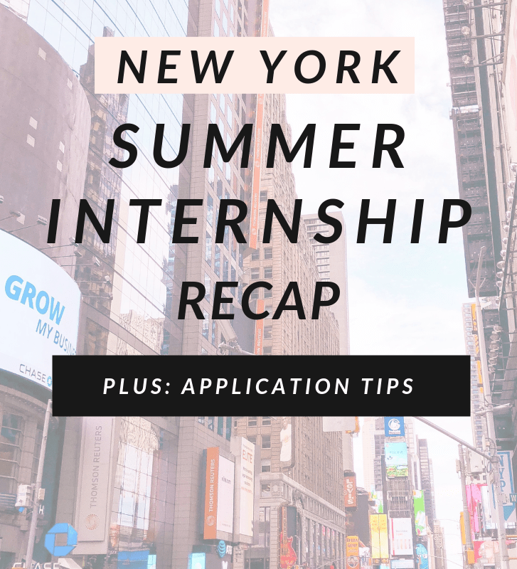 New York Summer Internship Recap