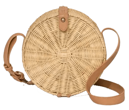 Round Rattan Bag Spring and Summer Handbags Under Fifty Dollars