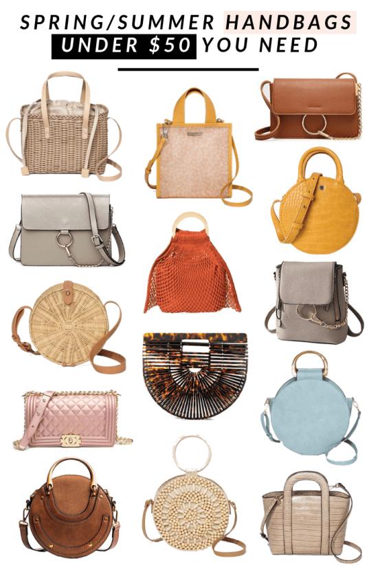 Spring and Summer Handbags Under Fifty Dollars