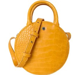 Yellow Circle Crocodile Crossbody Bag Affordable Bags for Spring and Summer