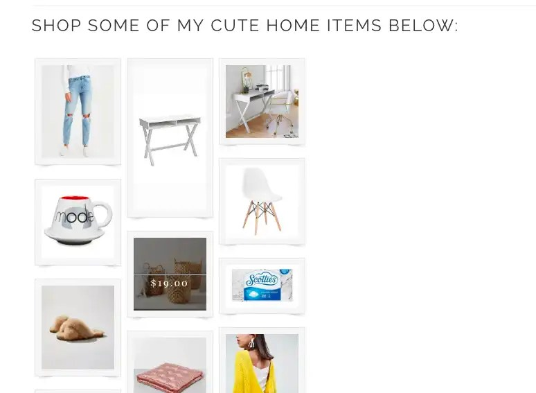 Boutique Widget for RewardStyle Post