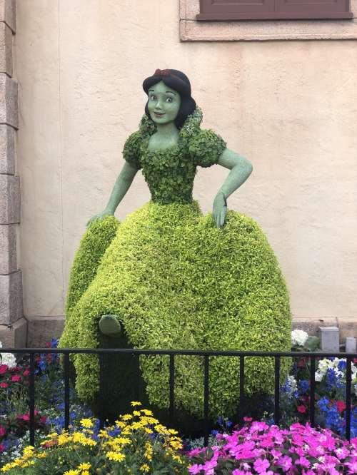Snow White Topiary Disney's Flower and Garden Festival