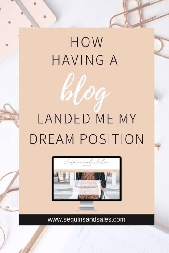 How Having a Blog Landed Me My Dream Position