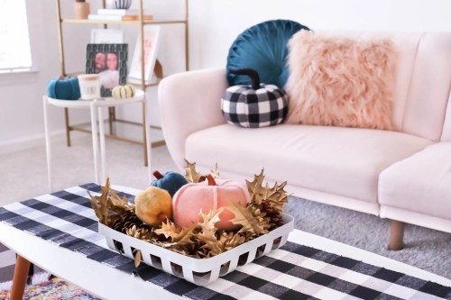 Pastel Fall Room Tour- Photo of entire apartment living room