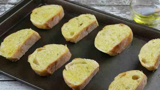 Cantaloupe Prosciutto Bruschetta Process 3