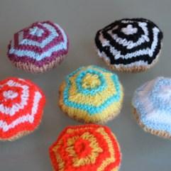Multi-colour cup cakes